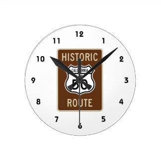 Historisk ruttUS-rutt 50 (Kalifornien) underteckna Rund Klocka