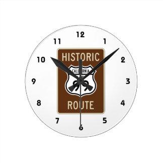 Historisk ruttUS-rutt 99 (Kalifornien) underteckna Rund Klocka