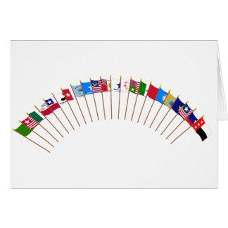 Historisk Texas flaggor Hälsningskort