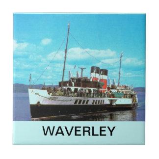 Historiska frakter Waverley, brittisk ångayacht Kakelplatta