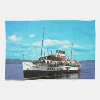 Historiska frakter Waverley, brittisk ångayacht Kökshandduk
