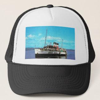 Historiska frakter Waverley, brittisk ångayacht Truckerkeps