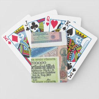 Historiska pengar spelkort