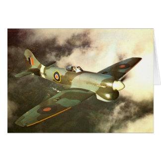 Historiskt flygplan för krigstid WW2 i flyg Hälsningskort