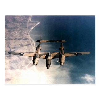 Historiskt flygplan för krigstid WW2 i flyg Vykort