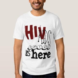 HIV AIDS, stillbild, är, här T-shirt