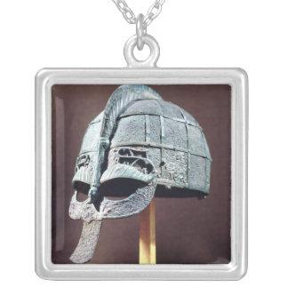 Hjälm från den Vendel skatten Silverpläterat Halsband