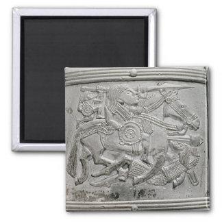 Hjälmfragment, från den Sutton Hoo skatten Magnet
