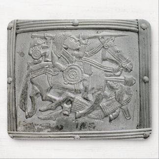 Hjälmfragment, från den Sutton Hoo skatten Musmatta