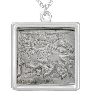Hjälmfragment, från den Sutton Hoo skatten Silverpläterat Halsband