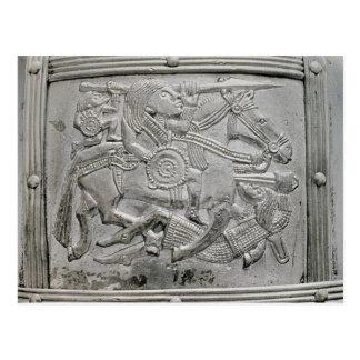 Hjälmfragment, från den Sutton Hoo skatten Vykort
