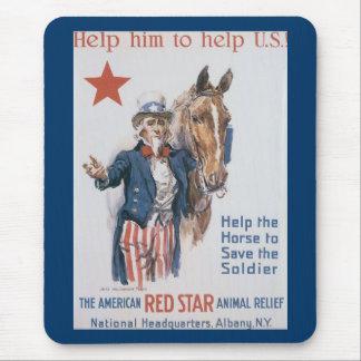 Hjälp honom att hjälpa U.S.! Mus Matta