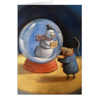 """""""Hjälp mig,"""", sade snögubben Hälsningskort"""
