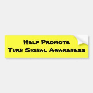 Hjälp PromoteTurn signalerar medvetenhet Bildekal