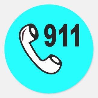 HJÄLP SHOUTOUT FÖR TELEFONNUMMER FÖR 911 AKUT RUNT KLISTERMÄRKE