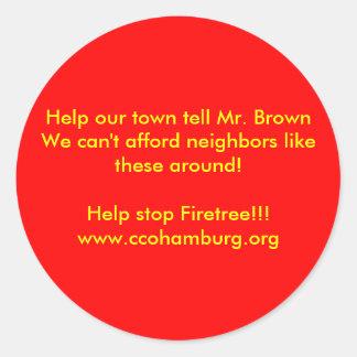 Hjälp vår town för att berätta Herr bryner oss kan Runt Klistermärke
