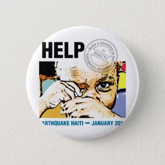 Hjälpdonation Haiti Standard Knapp Rund 5.7 Cm