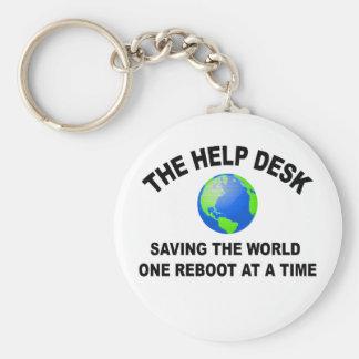 Hjälpskrivbordet - besparing världen rund nyckelring