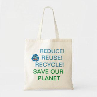 Hjälpspara vårt planet! budget tygkasse