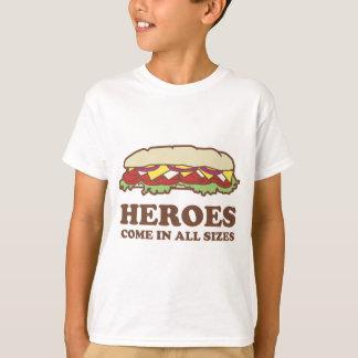 Hjältar kommer storleksanpassar sammanlagt t-shirt