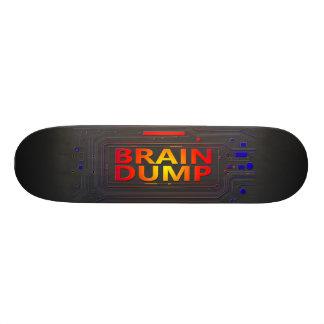 Hjärnan dumpar begrepp mini skateboard bräda 18,5 cm