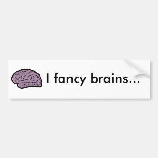 Hjärnor för middag bildekal