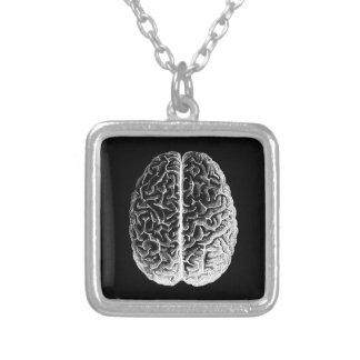 Hjärnor! Halsband Med Fyrkantigt Hängsmycke