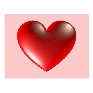 hjärta 3d/exponeringsglas vykort