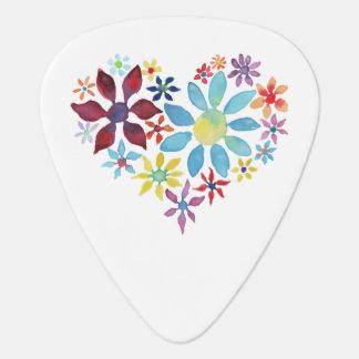Hjärta av blommor plektrum