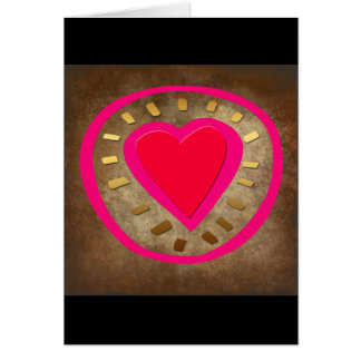 Hjärta av brons valentin kortet för daghälsningen hälsningskort