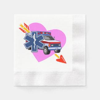 Hjärta av EMS Servett