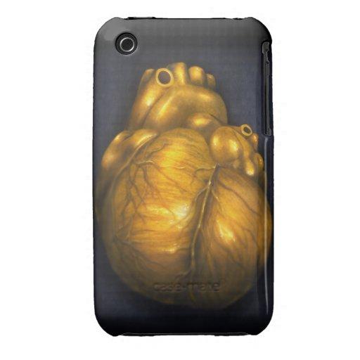 Hjärta av guld - skyddande fodral för iPhone 3 iPhone 3 Case-Mate Case