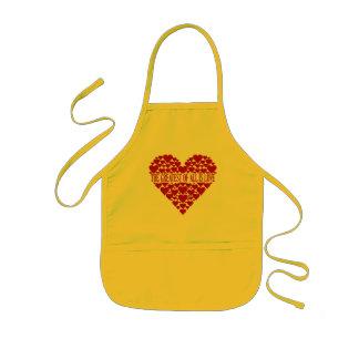 Hjärta av hjärtaförklädet - välj stil, färg barnförkläde