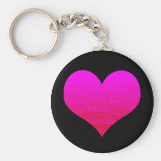 Hjärta av hopp Keychain Rund Nyckelring