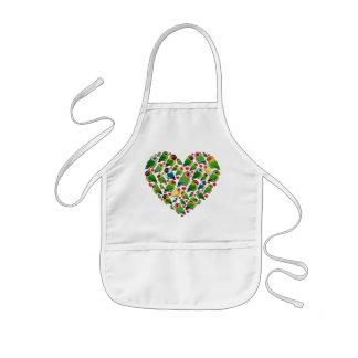 Hjärta av Lovebirds Barnförkläde