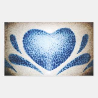 Hjärta av Shirley Taylor Rektangulärt Klistermärke