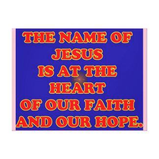 Hjärta av vårt tro och hopp: Den kända Jesus! Canvastryck
