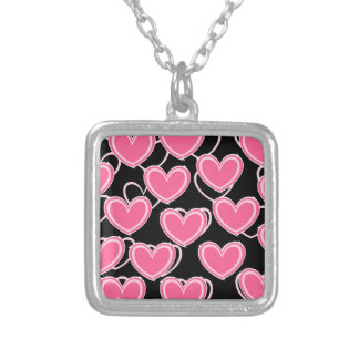 Hjärta bubblar - rosor på svart halsband