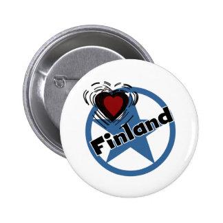 Hjärta Finland Knappar Med Nål
