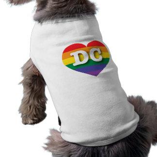 Hjärta för DC-gay prideregnbåge - stor kärlek Långärmad Hundtöja