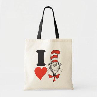 Hjärta för Dr. Seuss Valentin | I katten i hatten Tygkasse