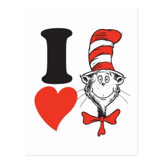 Hjärta för Dr. Seuss Valentin | I katten i hatten Vykort