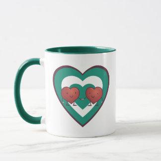 Hjärta för hjärta 2 mugg