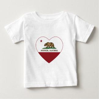 hjärta för Kalifornien flaggaandersson Tee Shirt