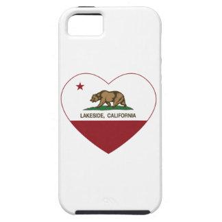 hjärta för Kalifornien flaggalakeside iPhone 5 Cover
