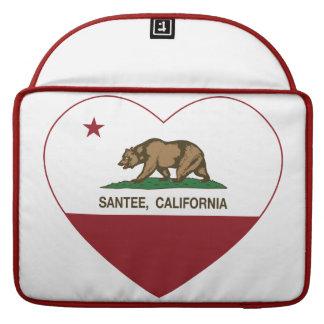 hjärta för Kalifornien flaggasantee MacBook Pro Sleeve