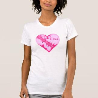 Hjärta för kärlek för flickaktigt medeltida t shirt
