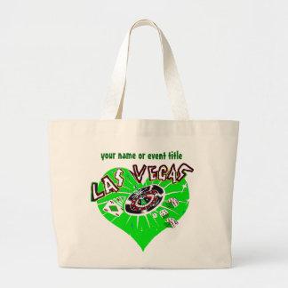 Hjärta för Las Vegas spelaregrönt Jumbo Tygkasse