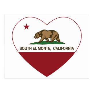 hjärta för monte för el för Kalifornien flagga Vykort