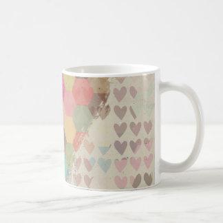 Hjärta för PIXELDigital regnbåge Kaffemugg